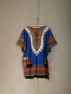 vintage 70's dashiki / hippie garb / hippie boho bohemian shirt / 1970's / all cotton / beachy / bonfire attire by yellowjacketvintage on Etsy