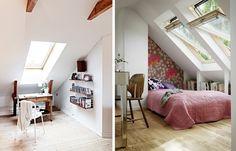 Attic rooms #bedrooms #attic #office