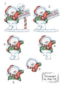 photo SnowManAtNorthPole_DecoupagedbyAngi.jpg