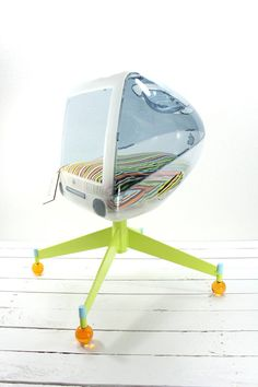 Customize Your Bed Upcycled Apple Computer Pet Bed  by AtomicAttic