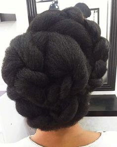 23 Lovely Braided Updos for Black Hair