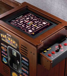 Re-create the excitement of an entire 1980s arcade in a single cocktail table cabinet – just like the one you used to play after school at the pizza parlor.