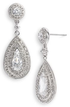 Nadri Pear Drop Earrings available at #Nordstrom possible accessories or me and maybe the bridesmaids
