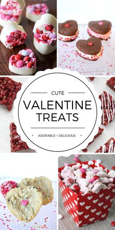 Share the love with Cute Homemade Valentine's Day Treat Ideas for your family and friends.  Delicious!  Valentine's Day recipes and desserts worth pinning...and eating!