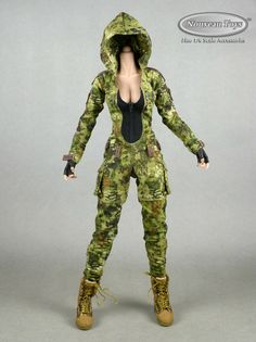 1/6 Phicen VeryCool Villa Sister Female Body, Camouflage Suit, Hands, Boots Set | eBay Camouflage Suit, Female Bodies, Parachute Pants, Scale, Sisters, Villa, Jumpsuit, Action, Hands