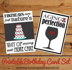 Printable Birthday Cards with funny quotes  Perfect for my upcoming 40th #printable_birthday_cards