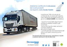 Newsletter n°21 – Abbiamo certificato la sicurezza dei vostri prodotti nel rispetto della Scala Vanini. terraccianogroup.it