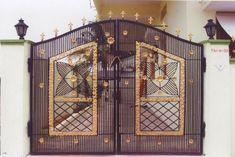 indian home main gate design House Wall Design, Gate Wall Design, House Main Gates Design, Home Door Design, Main Entrance Door Design, Steel Gate Design, Grill Door Design, Front Gate Design, Wooden Door Design