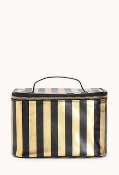 #Glam Cosmetic Traveling Case #Stripes  #ForeverHoliday