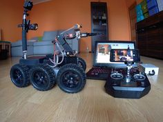 Remote Controlled All Terrain Robot: 10 Steps (with Pictures) Arduino Projects, Electronics Projects, Real Spy, Rc Drone, Drones, Military Robot, Learn Robotics, Big Robots, Diy Tech