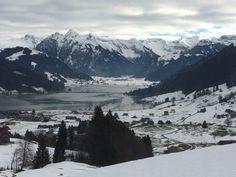 Herrlicher Blick auf den Sihlsee Richtung Studen im Kanton Schwyz Seasons Of The Year, Winter Time, Alps, Winter Wonderland, Switzerland, Den, Europe, Country, Beautiful