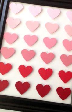 Valentine's Day Heart Art #Valentines #DIY