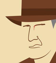 Noma Bar - Indiana Jones