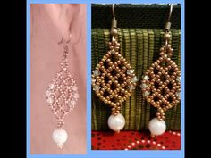 Beaded Earrings Patterns, Seed Bead Earrings, Bracelet Patterns, Beading Patterns, Seed Beads, Beaded Jewelry, Beading Projects, Beading Tutorials, Minecraft Beads