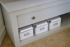 DIY: TV Stand with Pivoting Door to Hide Electronics