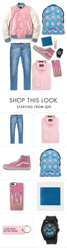 """Sweet Student"" by max-the-glitter-lord ❤ liked on Polyvore featuring River Island, Nordstrom, Vans, Mi-Pac, Casetify, Paul Smith, Various Projects, Neff, men's fashion and menswear"