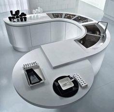 40 diseños de modernas islas de cocina, ideas con fotos | Construye Hogar