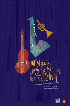 JazzFest by Virginia Patterson, via Behance