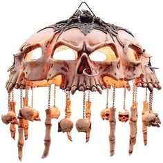 Skull Lamp Shade. Love it.