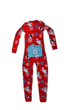 Red Union Suit Boys & Girls Kids Pajamas Stay Cool Polar Bear on Rear Flap Onesie Pajamas, Boys Pajamas, Union Suit, One Piece Pajamas, Christmas Fashion, Snug Fit, Boy Or Girl, Onesies, Polar Bears