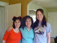 Authors Jackie Kessler, Jill Monroe and Gena Showalter during Author Talk filming