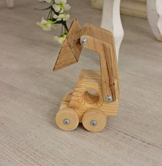 wood toys for boys ideas Wood toy for kids tractor Montessori eco-friendly toy Wooden loader wheels rotate Boys toy for car lovers Handmade toy Children gift idea Wooden Piggy Bank, Tractors For Kids, Woodworking Projects For Kids, Woodworking Tools, Youtube Woodworking, Wood Projects, Wood Toys Plans, Eco Friendly Toys, Montessori Toys