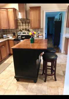 Rolling Island Kitchen Unfinished Oak Cabinets Customizable Storage With Bun Feet