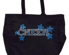 Rhinestone Cheer Tote  -   Custom Cheerleader Rhinestone Tote