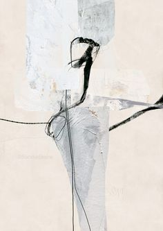 "Sander Steins, ""Unaffected Episode"", mixed media on fine art paper"