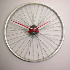 Upcycled Bicycle Wheel Clock