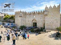 This is the Damacus Gate of the Old City.  It's one of the main gates out of eight gates.  It got its name from the Syrian capital cause the roads lead to Syria.  This week's travel deals link in bio loves! #APlaneTicketAndReservations        #OldCity #Jerusalem #Israel #ToLiveAndDineInJerusalem #ToLiveAndDine #GrubLife #Travel #Traveler #Travels #TravelGram #TravelinGram #Traveling #Vacation #Wanderlust #TravelBlog #Holiday #TravelBlogger #Wanderer #GlobeTrotter #WorldCaptures…