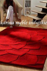 dywan KALLISTA RED 100%wełna  140x210 cm.