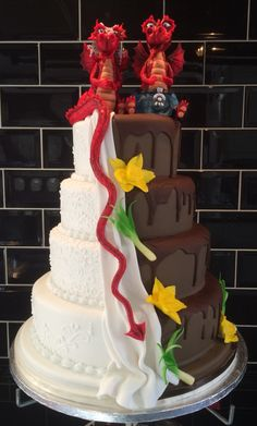 St David's Day wedding cake