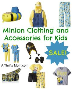 Minion Clothing and Accessories for Kids On Sale - A Thrifty Mom