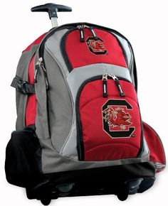 66e1f73e8a South Carolina Gamecocks Rolling Backpack Deluxe Red University of South  Carolina - Best Backpacks Bags with
