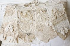 vintage lace flea market mini totes
