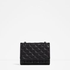 ZARA -QUILTED LEATHER CROSS BODY BAG in Blue Ref. 4115/104 14 x 17 x 5 cm.