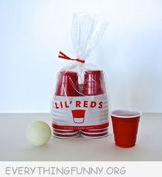 Lil' Reds - Funny Shot Sized Solo Cups for Parties
