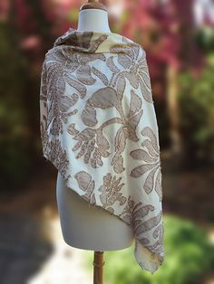 Lovely Alabama Chanin Poncho~ I've just completed stitching the most beautiful Alabama Chanin poncho , ballet over natural 100% orga...