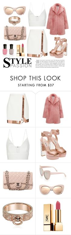 """""""I love the way you make me feel 💖👚💄"""" by lauzzyad ❤ liked on Polyvore featuring Thierry Mugler, Whistles, Narciso Rodriguez, Miu Miu, Chanel, STELLA McCARTNEY, Yves Saint Laurent and Deborah Lippmann"""
