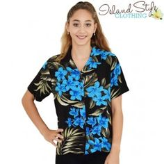 lady hawaiian shirt blouse floral fancy dress uniform cruise