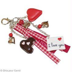 Porte clé Grigri de Saint Valentin en Cernit (tuto)