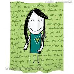 Zavjesa za tuš Little Girl Green cm - Vivre. Home Decor Inspiration, Little Girls, Green, Fictional Characters, Anna, Paper, The World, Bathroom Window Curtains, Products