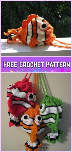 Crochet Fish Bag Free Pattern