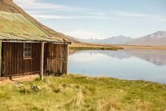 The historic musterers hut on the shore of Lake Emma in the Hakatere conservation park. South Island, Mountain S, Conservation, New Zealand, Reflection, Hiking, Outdoors, Cabin, Adventure