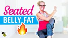 SEATED belly fat burn cardio cardio toning strength abs workout bull Pahla B Fitness Belly Fat Diet, Belly Fat Workout, Burn Belly Fat, Tummy Workout, Tummy Exercises, Chair Exercises, Abdominal Workout, Circuit Exercises, Morning Exercises
