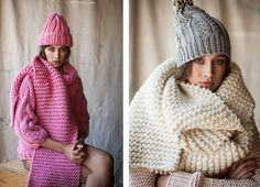 Style Trends: Chunky Knit Scarves   http://sheepandstitch.com/style-trends-chunky-knit-scarves/