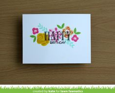 A Trio of Fab Flowers Cards by Kate | Lawn Fawnatics