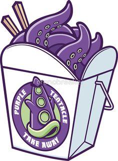 Purple Tentacle Take Away by cronobreaker