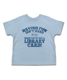 Look what I found on #zulily! Light Blue 'Library Card' Tee - Toddler & Boys #zulilyfinds